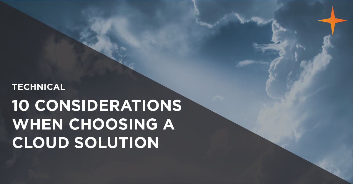 how to choose a cloud solution