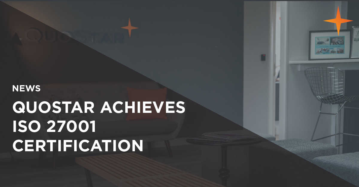QuoStar achieves ISO 27001 certification