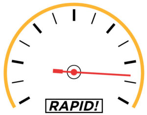 speedometer showing a high speed