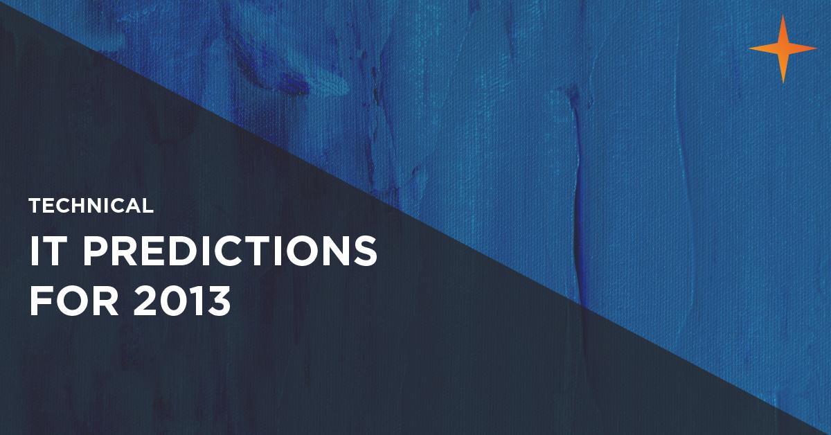2013 it predictions