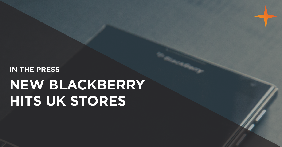 new blackberry mobile phone hits UK stores