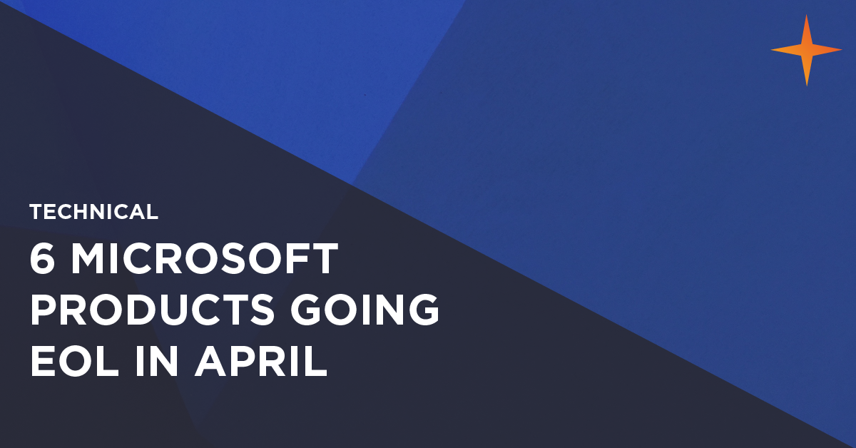 microsoft products going end of life in april