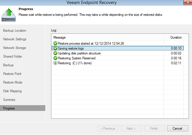veeam endpoint backup FREE bare metal restore