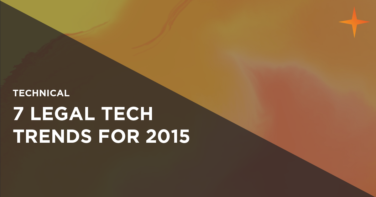 legal technology trends for 2015