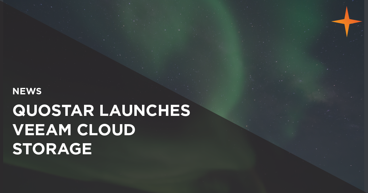 quostar launches veeam cloud storage platform
