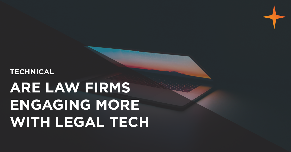 are law firms engaging more with legal tech?
