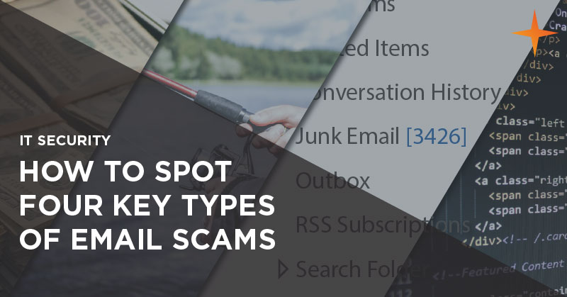 IT security - How to spot four key types of email scams