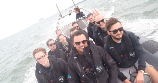 QuoStar Team Day Out - RIB Ride in Southampton, company summer event