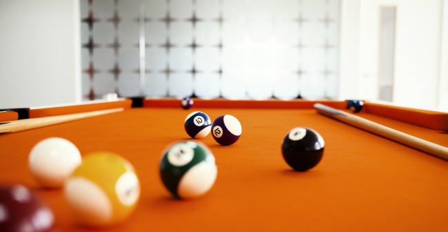 QuoStar's office pool table