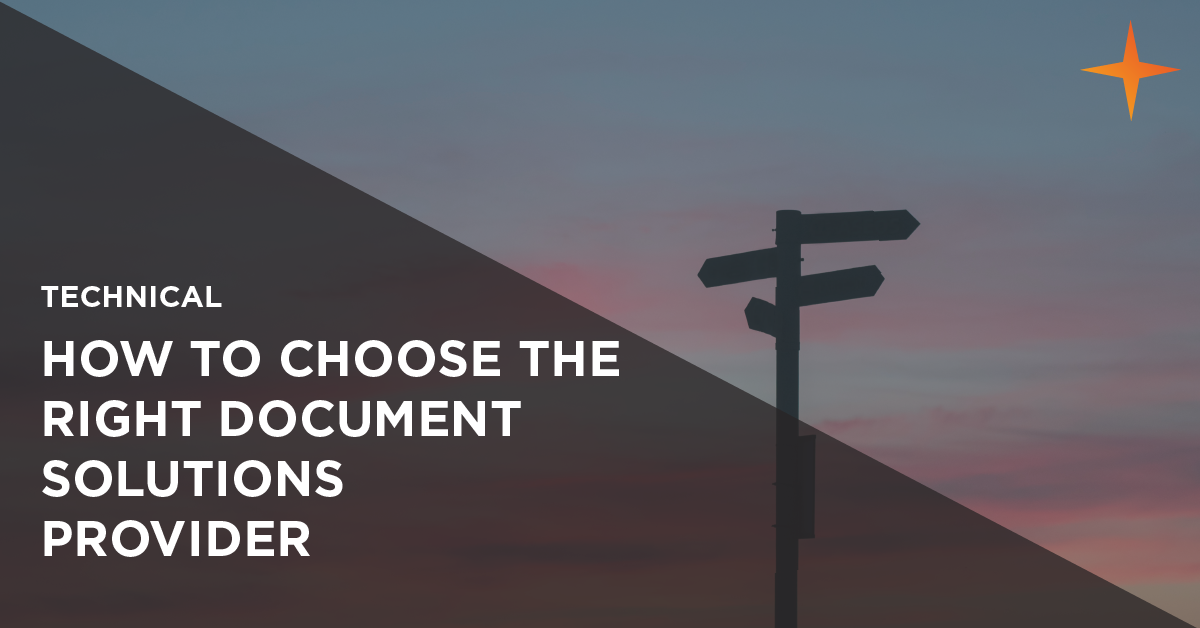 how to choose the right documents solutions provider