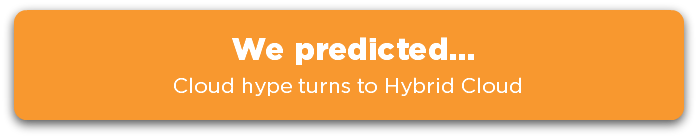 We predicted... cloud hype turns to hybrid cloud