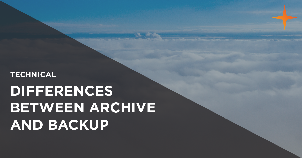 differences between email archive and backup
