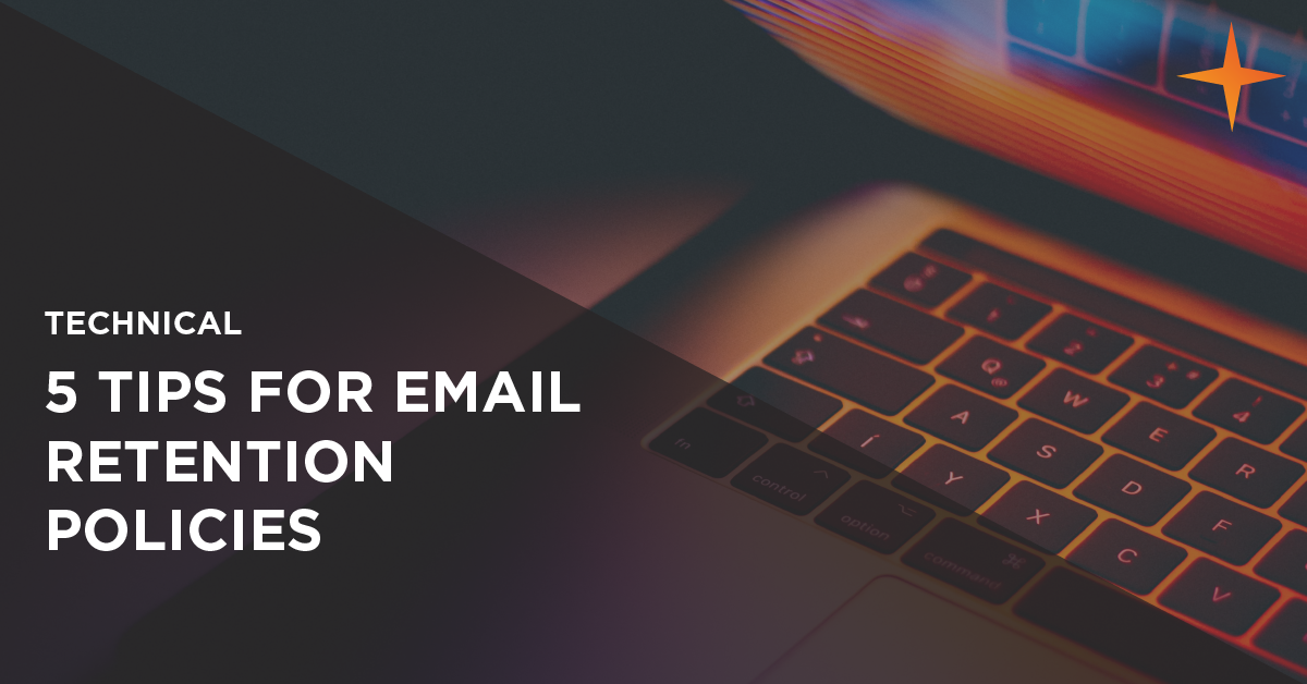how to create an email retention policy
