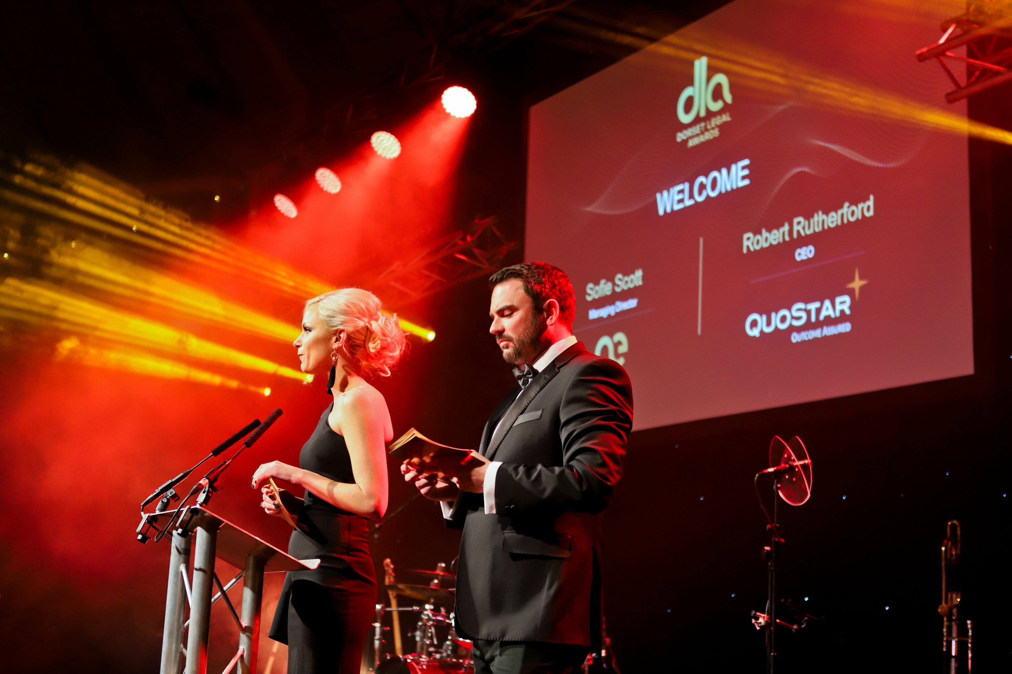 Sofie Scott and Robert Rutherford at the Dorset Legal Awards