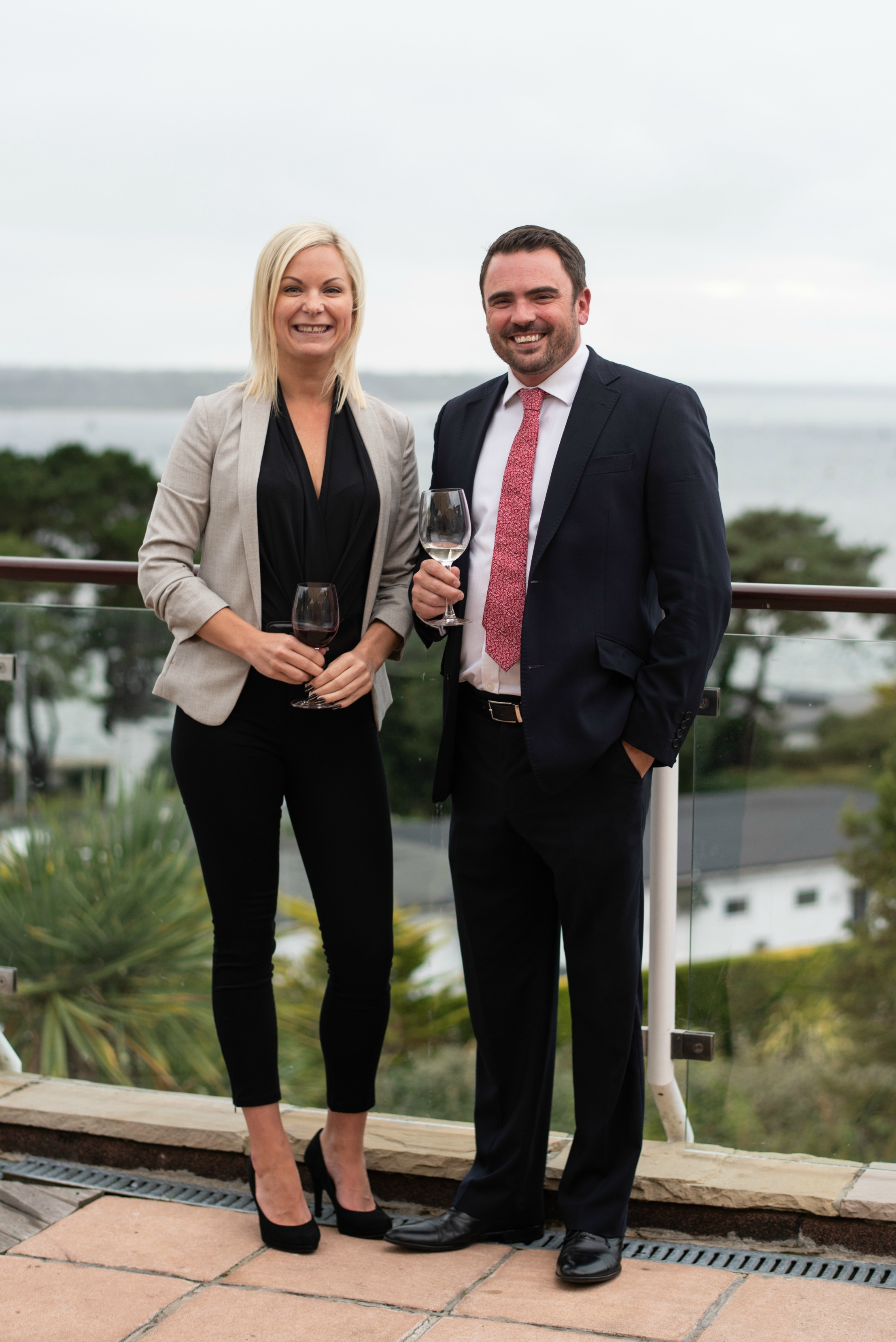 QuoStar CEO Robert Rutherford with Dorset Legal Awards' co-founder Sofie Scott