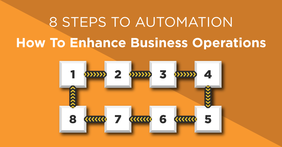 8 steps to automation - How to enhance business operations with digital transformation