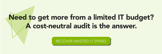 Need to get more from a limited IT budget? A cost-neutral audit is the answer. Recover wasted IT spend.