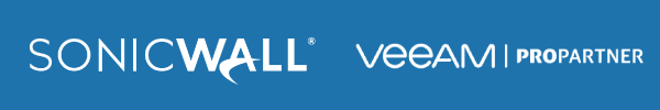 SonicWall Partner Badge. Veeam ProPartner Badge