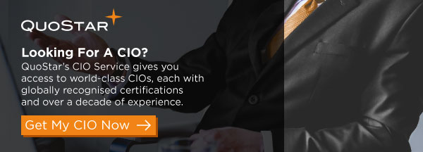 Looking for a CIO? - QuoStar's CIO service gives you access to a range of world-class CIOs, each with globally recognised qualifications and over a decade of experience. - Get my CIO now.